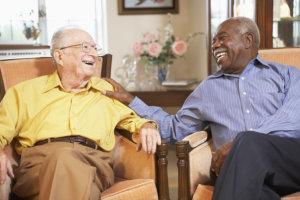 senior men relaxing